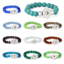 11colors 18mm metal xinnver snap bracelet button jewelry crystal carter love bangle Wrist watches for women one direction ZE058(China)