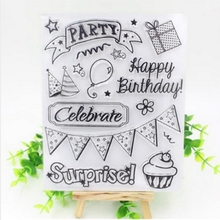 Clear Stamp Scrapbook DIY photo cards rubber stamp seal stamp happy birthday transparent silicone transparent stamp wholesale(China)