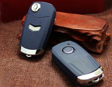 Modified Folding Flip Remote Key Shell Case for Fiat 1 Button Uncut Blade Key Blanks