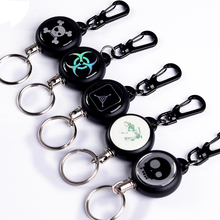 TAD Steel Rope Burglar Tool Belt Money Retractable Key Recoil Ring Pull Chain Clip Keychain key Chain Chaveiros(China)