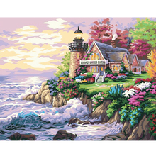 High Quality Hand painted Seaside Dream oil painting on canvas art picture painting by numbers wall pictures 40x50cm