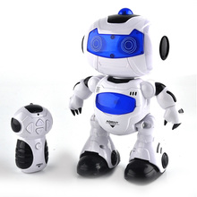 4.5CH 360 Rotating Smart Space Dance Robot Remote Control electronic Walking Musical Toys Action&Toy music light toys kids gift(China)