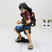 18cm One Piece Monkey D Luffy black color PVC Action Figure Collectible Model Toy One Piece Luffy Figure(China)