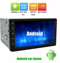 Free rear Camera+7'' Capactive Touchscreen Android 4.2 GPS Car PC NO-DVD MP3 Player 2din In dash Bluetooth Car Stereo Radio+iPod(China)