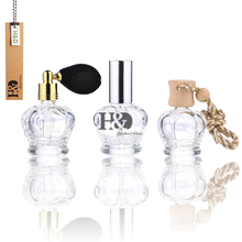 3Pcs Clear 15ml Black Atomizer Glass Empty Perfume Bottle Wedding Decor Gift Perfume Containers(China)