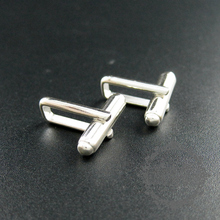solid 925 sterling silver French cufflinks DIY cuff links supplies findings 1500061