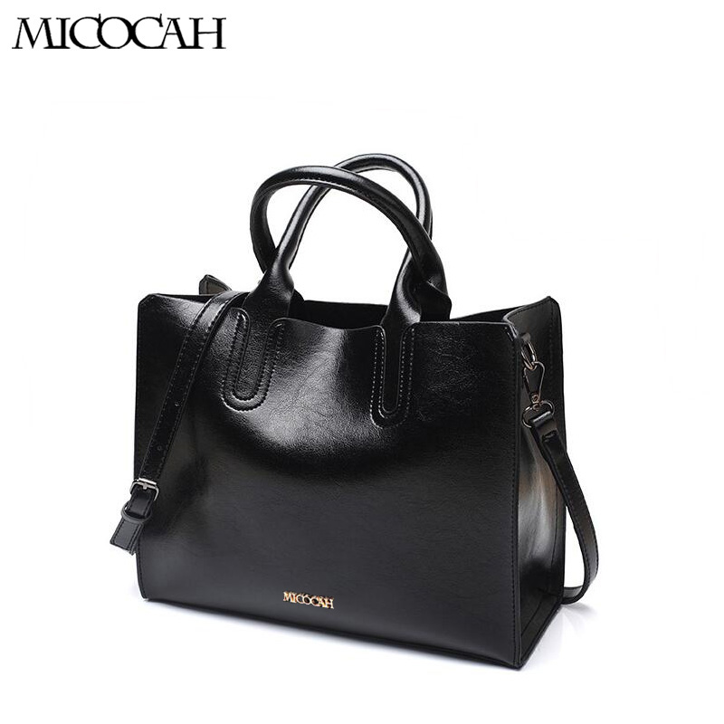 Micocah Casual Women pu leather Handbags Brands Trunk Cross body Bag Solid Totes Designer Shoulder Bags Ladies Large Bolsas