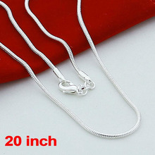 Fashion 925 Sterling Solid Silver lots 1mm Snake Chains Necklaces 20 inch NEW silver jewelry cheap necklaces