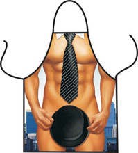 Cool hat gentleman male apron bar party apron apron 1 pieces on behalf of Hot pot shop restaurant