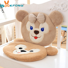 New Coming 35x40cm Soft Duffy Bear Shirley Rose cushion stuffed Plush teddy bear cute dolls Kids birthday Christmas Gift(China)