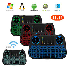 MT08 Mini Wireless keyboard Touchpad 2.4G Fly Air Mouse Combo Teclado for HDPC Win7 Pad for Xbox360 for PS3 for Andriod TV Box(China)