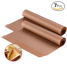 BAKHUK 7Pcs 16*24 Inch Baking Mat, High Temperature Resistant Teflon Sheet, Heat-Resistant Pad, Non-stick, for Outdoor BBQ