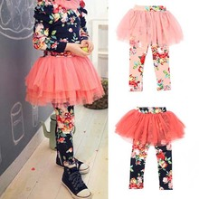 New Kids Baby Girls Child Culottes Floral Leggings Tutu Dress Tulle Pants Skirts 2-7