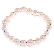 YYW Freshwater Cultured Pearl Bracelet Jewelry Natural Pearl Bracelets Bangles Single Strand Pearl Beads Bracelets Birthday Gift