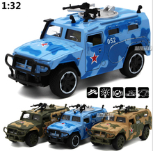 Hight Simulation 1:32 Combat Command Vehicle Diecast Metal Car Model Navy Chariots Jungle Chariots For Kids Toys Gifts(China)