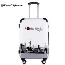 High Quality 20''Women luggage travel case trolley Girls Rolling Luggage ABS Trolley Travel case Boarding case Luggage case(China)