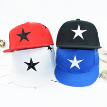 2018 Baseball Cap Kids Stars Embroidered Hat Baby Boys Girls Flat Hip Hop Cap Snapback 3-10 Years Old(China)