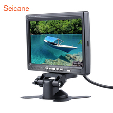 Seicane Universal 7 inch HD 1024*600 TFT LCD Car Auto Parking Monitor Backup Rearview Video Recoder DVR Reverse System Digital V(China)