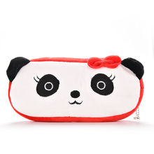 cute Peerless Plush Animals Panda Pen Pencil BAG Case Cosmetics Purse & Wallet Coin Holder Pouch BAG For School Kids Gifts(China)