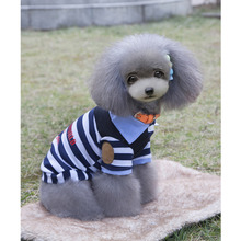 1Pc 5 Sizes Pet Dog Cat Puppy Polo T-Shirts Suit Clothes Outfit Apparel Coats Tops Clothing For Pet Costumes(China)