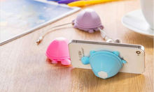 Fashion Cable Winder Silicone Candy Color Turtle Earphone Winder Cute Cable Organizer Novelty mobile phone Holder for iphone