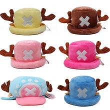 1Pcs/set Kawaii Anime One Piece plush toys cosplay Tony Chopper plush cotton hat warm winter hat cartoon cap for children gift(China)