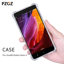 Pzoz redmi note 4 case silicone luxury shockproof xiaomi redmi note4 Cover Transparent Clear Protective xiomi note 4 32GB 64GB