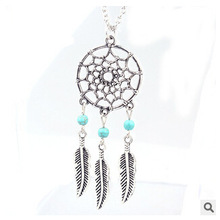 SHUANGR gioielli Dreamcatcher necklace silver chain colgante collier sautoir long necklaces pendants choker necklace collares