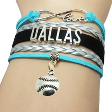 Infinity Love Dallas basketball Team Bracelet Customized Wristband friendship Bracelets for Sports Fans