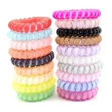 12 Pcs Hair Accessories Gum Telephone Wire Hairbands Headwear Elastic Spring Hair Bands Hair Ties/Rings/Ropes Ponytail Holder(China)