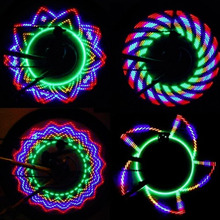 1pcs 32 LED Wheel Signal Lights Colorful Rainbow Riding Bikes Bicycles Cycling Fixed on Cycle Spoke Light Tire Flash Lighting