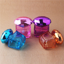 1PCS 20ML Water Cube Design Empty Perfume Bottles Atomizer Spray Glass Refillable Bottle Spray Scent Case
