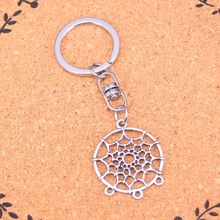 Fashion Vintage Silver Alloy catcher chandelier connector Pendants keychain keyring Accessories For Car key chains Jewelry(China)