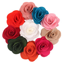 Hand-made Pet Hair Bows Clip rose Colorful Pet Dog clips grooming product accessories pet dog delicacy gift 40pcs(China)