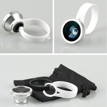 Universal 180 Clip Fisheye Fish eye Camera Lens For iphone 4S 5 5S 6 6S  samsung galaxy S3 S4 S5 Circular shape phone camera