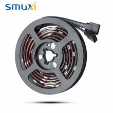 Smuxi 2X50CM 30 LED 5050 SMD RGB LED Strip Light 12V DC With 17 Key RF Wireless Remote For PC Computer Case