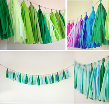 10Packs 50pieces/lot 14inch Tissue Paper Tassels Garland DIY Wedding Event Birthday Party Decoration Product Supply Wholesales