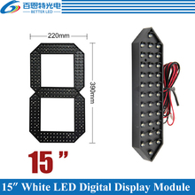 "4pcs/lot 15"" White Color Outdoor 7 Seven Segment LED Digital Number Module for Gas Price LED Display module(China)"