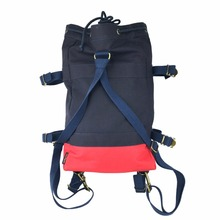 Tourbon Design Hiking Climbing Rucksack Bike Cycling Pannier Bag Saddle Canvas Backpack Navy Blue Leisure Bag