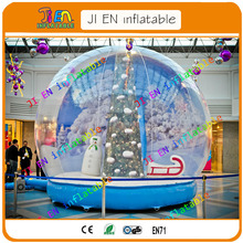 DDU free shipping to door snow globe / inflatable snow globe tent for promotion activities / cheap inflatable bubble tent booth