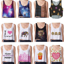 Women Short Crop Top Sleeveless U Croptops Fitness Tank Tops Women Vest Tube Top