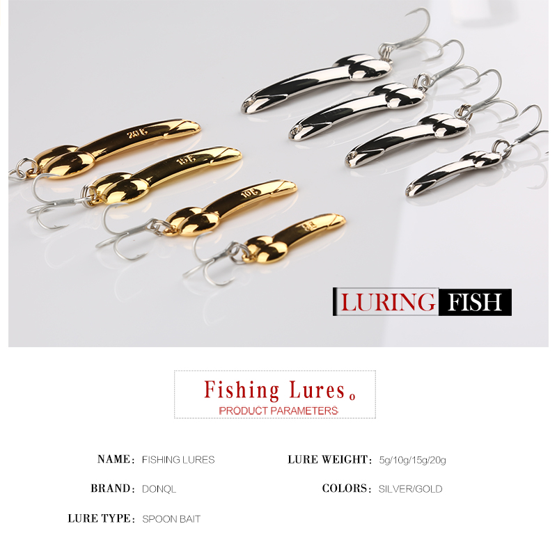 Spoon Metal Fishing Lure Hard Artificial Bait 3D Eyes BKK Hooks Lure Fishing Tackle