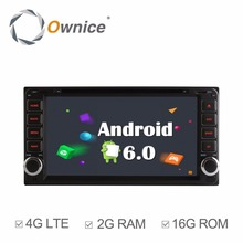 Ownice C500 Android 6.0 2G RAM car dvd player for Toyota Hilux VIOS Old Camry Prado RAV4 Prado 2003-2008 with 4G LTE Network