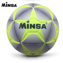2017 New Brand MINSA High Quality A++ Standard Soccer Ball PU Soccer Ball Training Balls Football Official Size 5 and Size 4 bal
