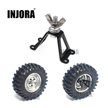 INJORA 1Pcs Spare Tire Brace / Wheel Holder for RC Crawler Axial SCX10 RC4WD D90 Tamiya