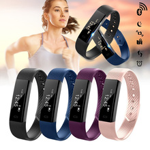 ID115 Smart Bracelet Fitness Tracker podometre Alarm Clock Vibration Smart Wristband Bluetooth for xiomi Android IOS pk fitbit