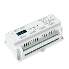 New D12C CC Led DMX512 Decoder Constant Current;DC12-48V input;200-1000mA*12CH output Din Rail 12 Channel DMX Decoder RGB Strip