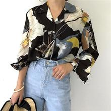 Buy Korean Style Women Blouses Floral Chiffon Shirts Office Lady Tops Work Fashion Elegant V-Neck Clothing Autumn Female Blusas 2017 for $10.42 in AliExpress store
