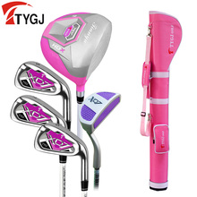 Brand TTYGJ 5-pieces Half Golf Clubs Set with Bag Woman's Leaner Beginner golf clubs branded golf irons set