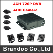 New Products 4CH 720P Car DVR Taxi Bus Vehicle Truck DVR With AHD Camera Support VGA Output